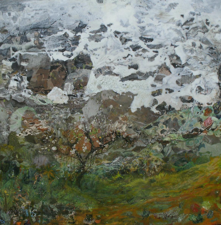 Le Dormeur du Val - 73x73cm - Cire sur bois (2015)