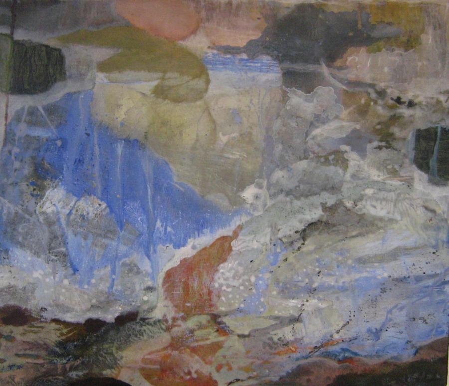 Le Bâteau Ivre- 63*54 cm - Cire sur toile - 2008