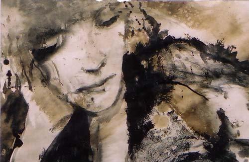 La lectrice - 25*39 cm - Encres sur papier - 2001