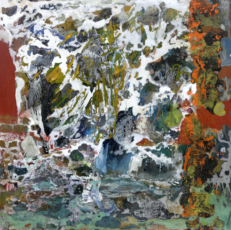 Le nouveau monde - 73x73 cm - cire sur bois - 2014