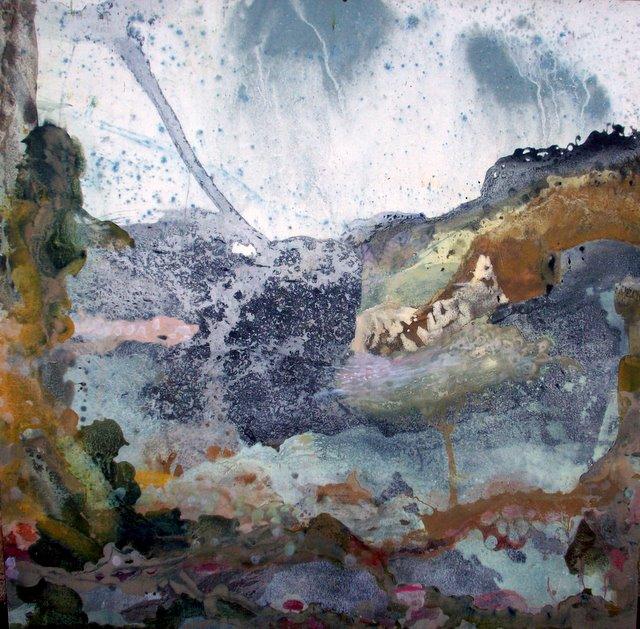 La Cordillère - 100*100 cm - Cire sur toile - 2008