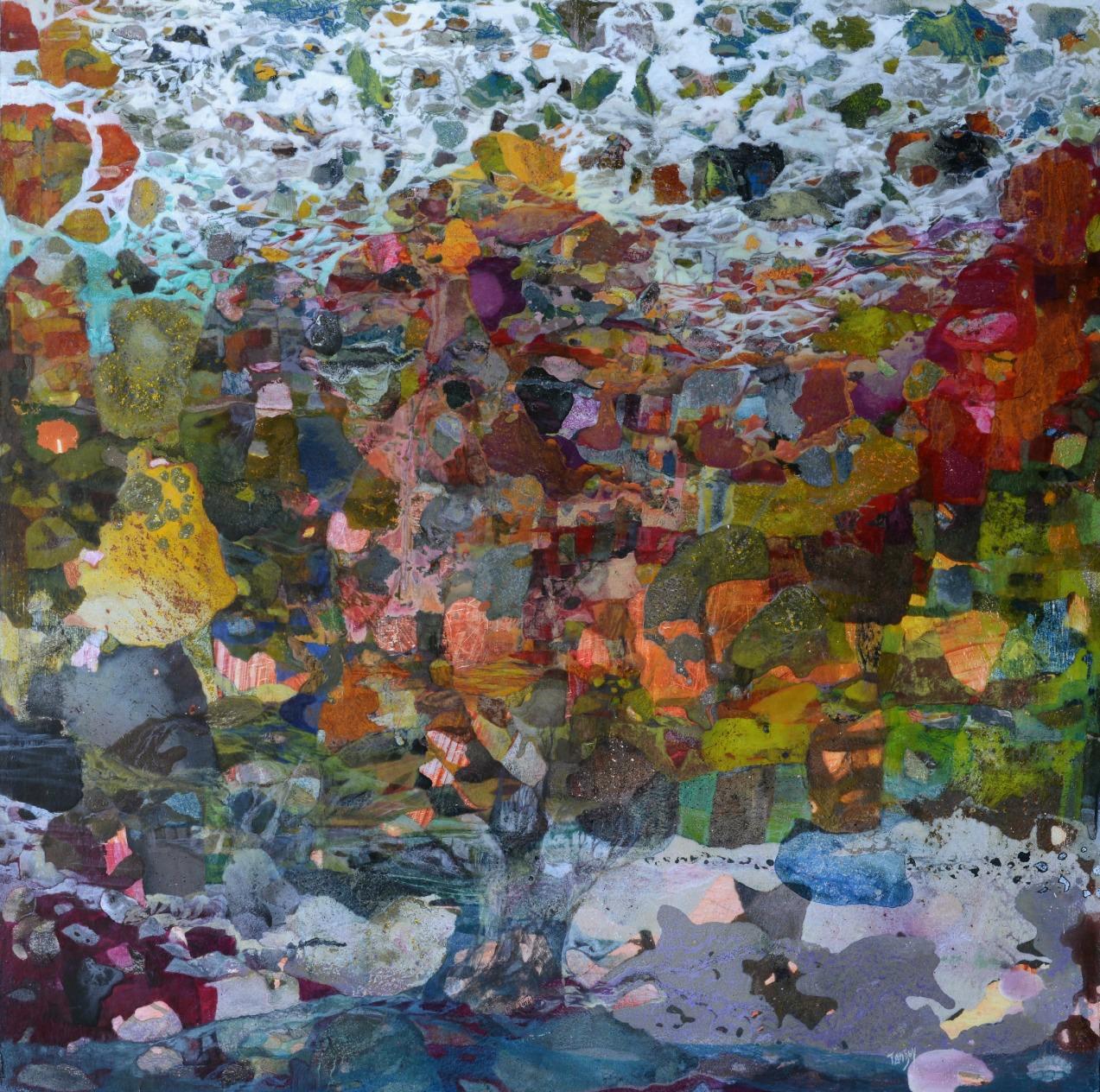 Le centenaire -100x100cm - Cire sur toile (2015)