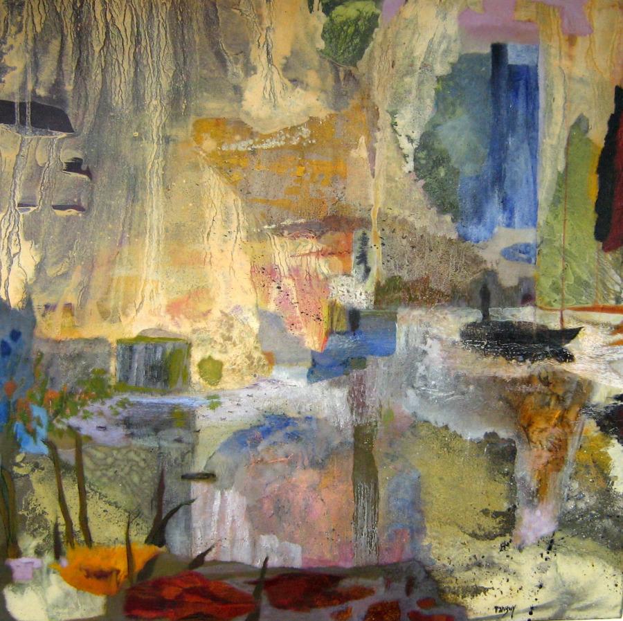 Invitation au voyage-80x80 cm- Cire sur toile-2007