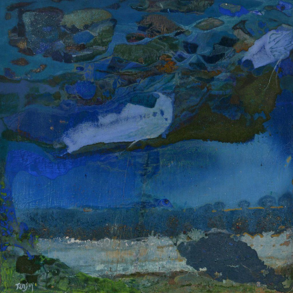 Mysteceti - 45x45cm - Cire sur bois - 2016