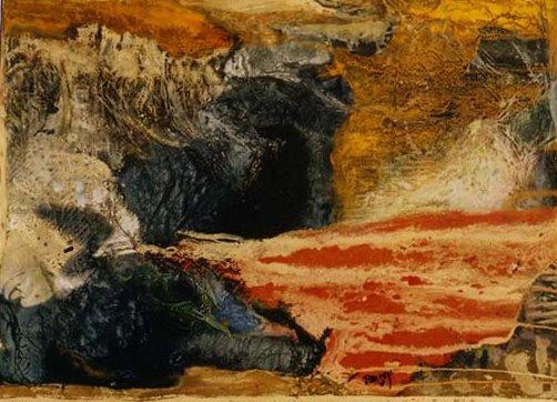 Le Vaisseau Fantôme - 40*30 cm - Cire sur toile - 2004