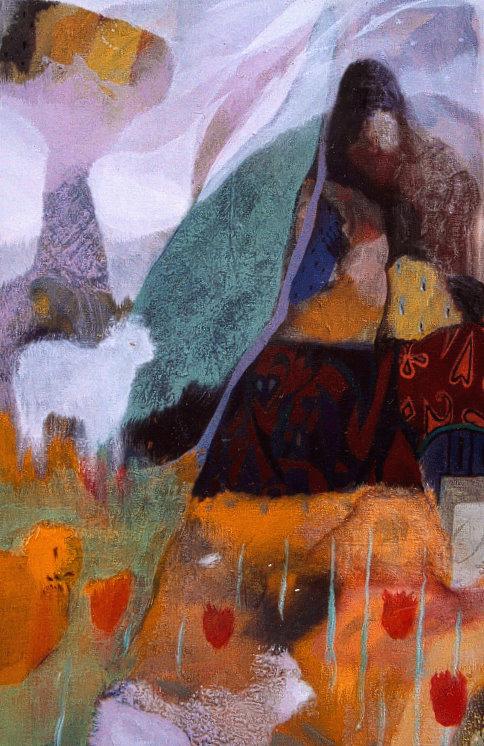 Le Rêve du Berger - 40*60 cm - Cire sur toile - 2002