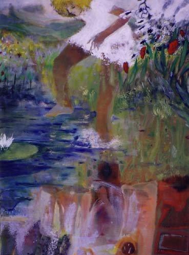 Alice - 97*131 cm - Cire sur toile - 2001