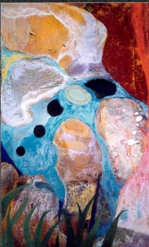 Enfant endormi - 37*60 cm - Cire sur bois - 2001