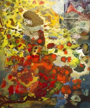 L'Espagnole - 54*65 cm - Cire sur bois - 2009
