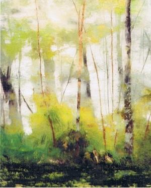 La futaie (détail) – 94*51 cm – Huile sur Verre – 2004