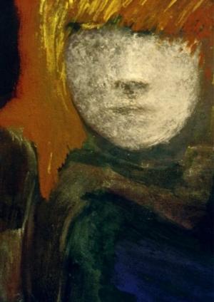 L'entrevue – 46*55 cm – Cire sur toile – 2001