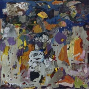 La lanterne -45x45cm-cire sur bois-2015