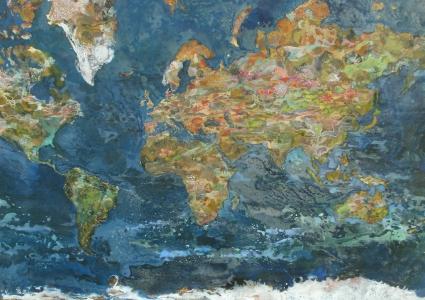 Mercator-176x116cm-Cire sur toile-2014