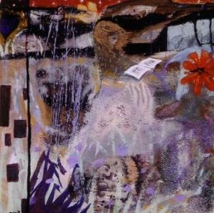 La Belle Histoire - 50*50 cm - Cire sur toile - 2001