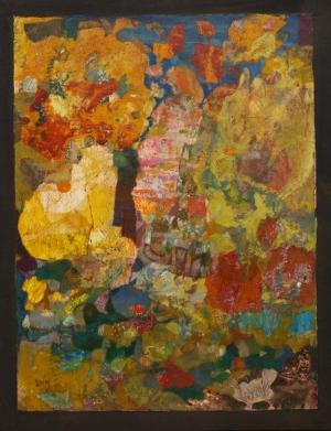 La Pensive - 29.7*40 cm - Cire sur papier - 2011