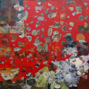 La Desserte (d'après H. Matisse) - 80*80 cm - Cire sur toile - 2011