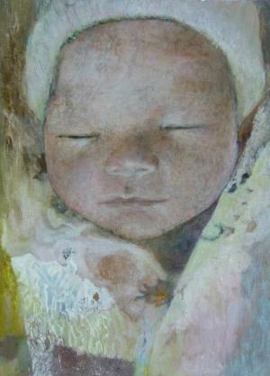 Portrait (Cire sur bois - 2009)