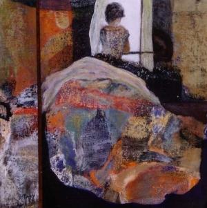 La Fenêtre - 50*50 cm - Cire sur toile - 2002