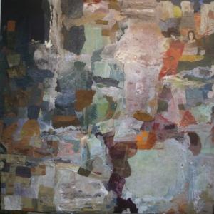 Cascades – 90*90 cm – Cire sur toile – 2011