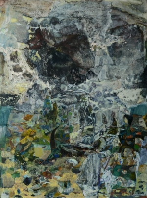 Le rêve apache - 60x80 cm – Cire sur bois – 2012