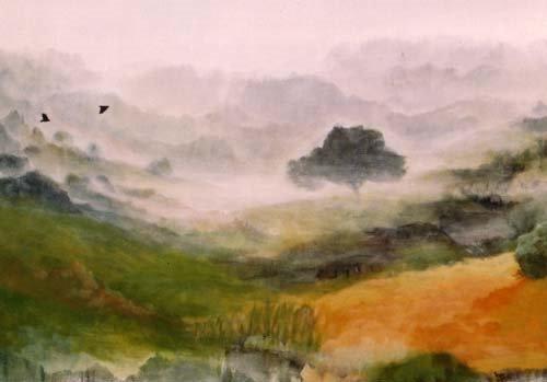 Premier Matin – 130*98 cm – Cire sur toile 2003