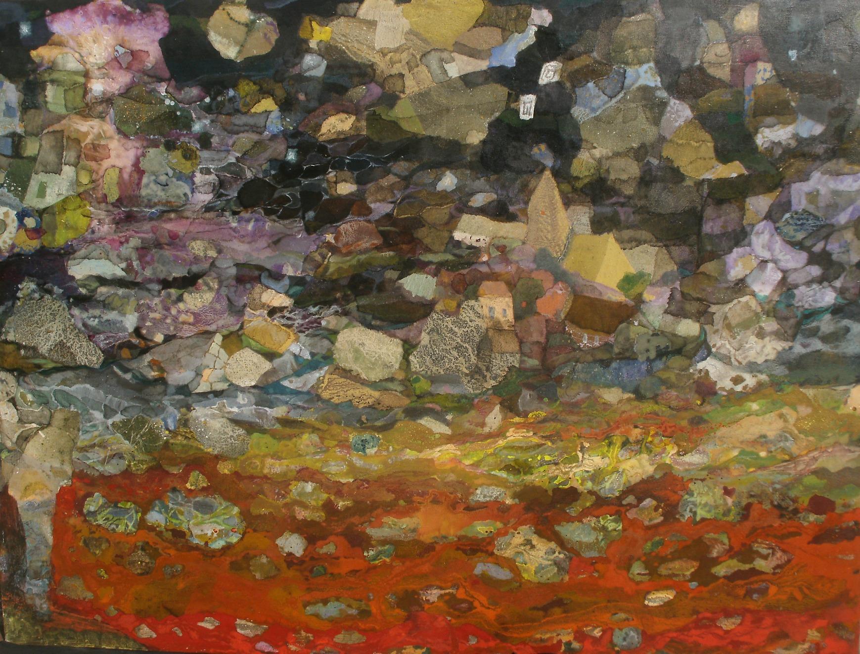 Scène de nuit - 130*97 cm - Cire sur toile - 2011