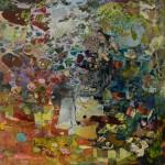 Conte sylvestre – 50*50 cm – Cire sur bois – 2015